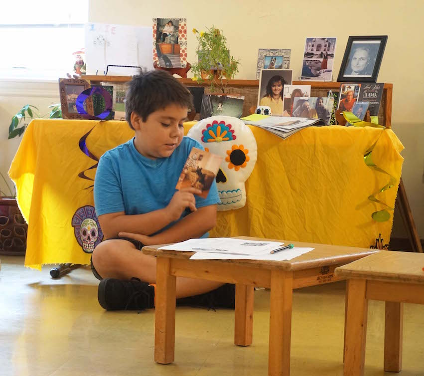 Several Lower Elementary students brought in pictures of their pets who had died.