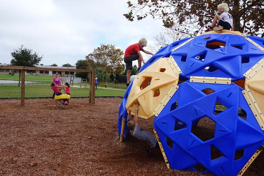 Playground time is always a welcome ending to a field trip.