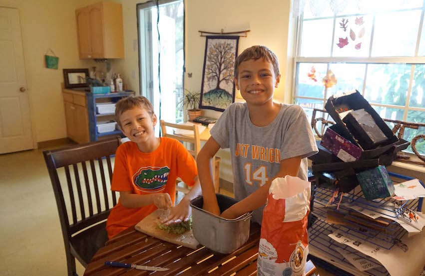 The Upper Elementary students have enjoyed the weekly bread-making sessions.