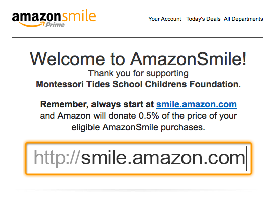 AmazonSmileConfirmationEmail
