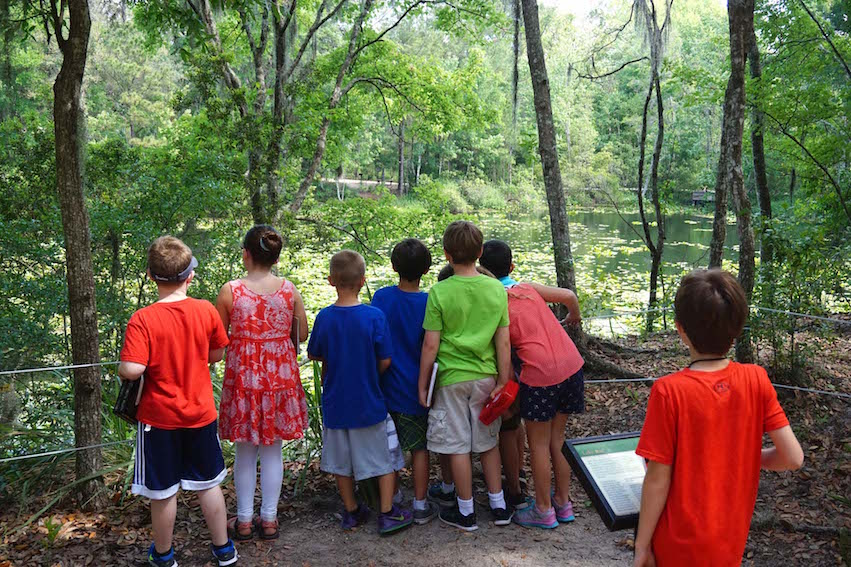 Miss Jessica took the students on a short hike through the arboretum as part of her nature study lesson.