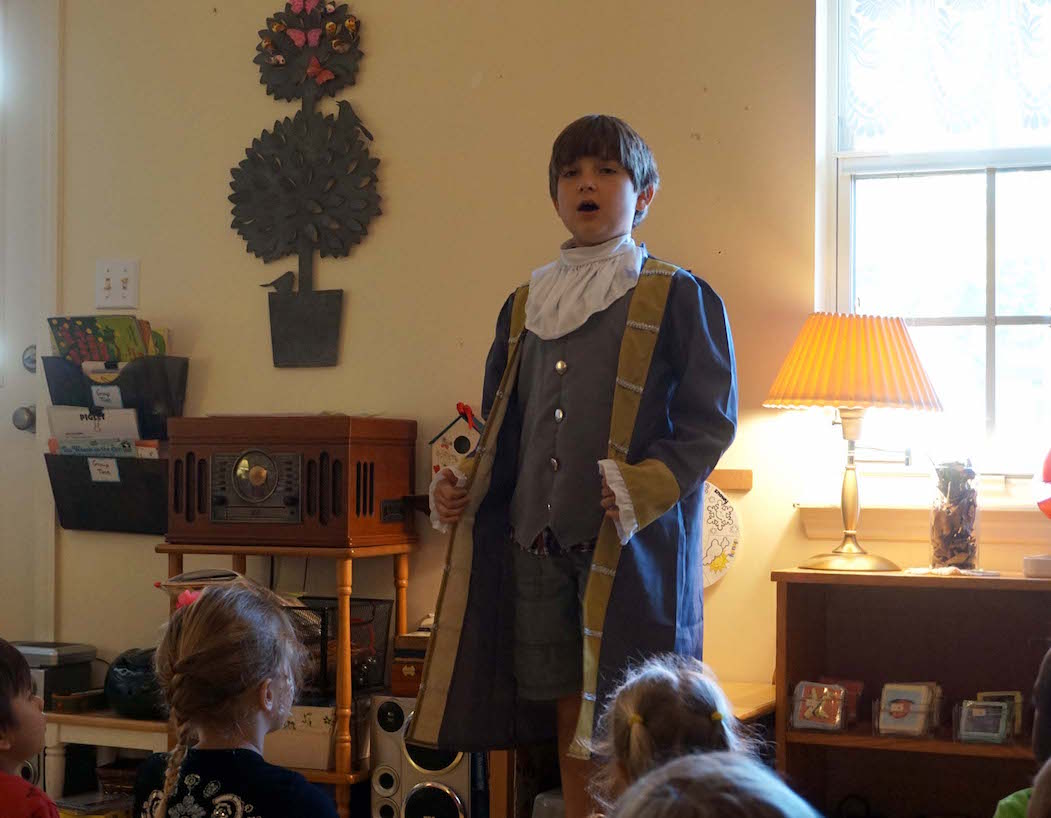 It's always fun to see the students get into their chosen historical Halloween figure. Ben Franklin made an appearance last year.