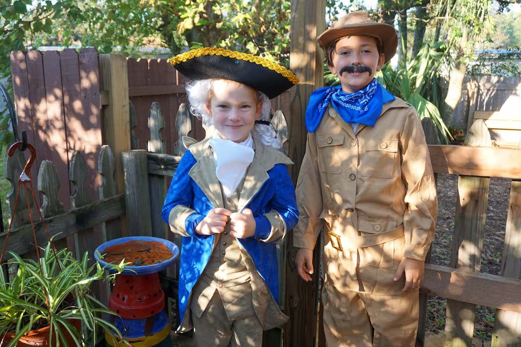 George Washington and Teddy Roosevelt met each other in the Lower Elementary class for Historic Halloween.