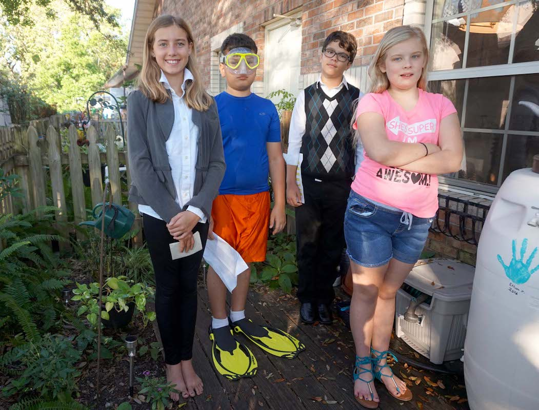The Upper Elementary students veered toward writers for their Historic Halloween celebration, along with a scuba diving pioneer and a Native American. J.K. Rowling, Eduard Admetlla, R.L. Stine and Pocahontas shared their stories with the class.
