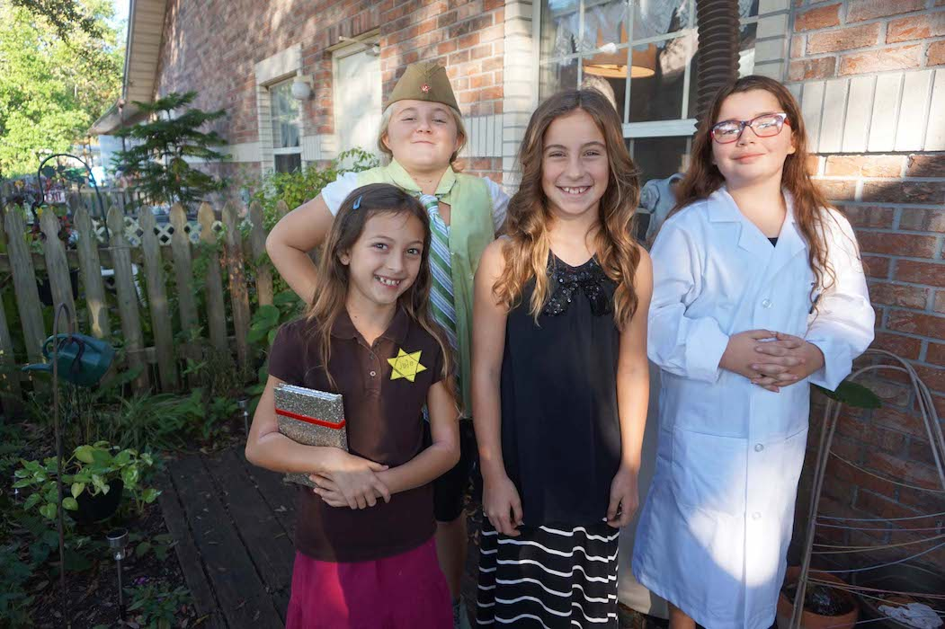 Anne Frank, cosmonaut Valentina Tereshkova, Helen Keller and Marie Curie spoke with Upper Elementary students for Historic Halloween.