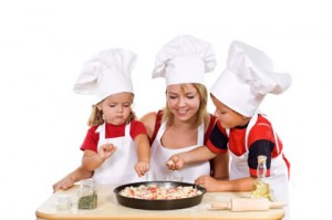 Handling Spills with Your Child and a Little Pizzas Recipe