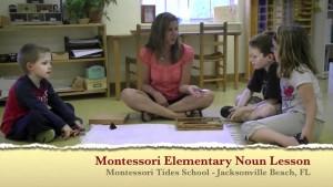 Montessori Elementary Noun Lesson