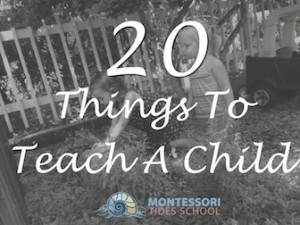 20 Things To Teach a Child