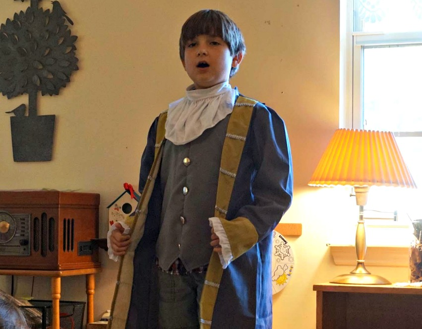 Benjamin Franklin enjoyed telling the Primary students about his life for Historical Halloween.