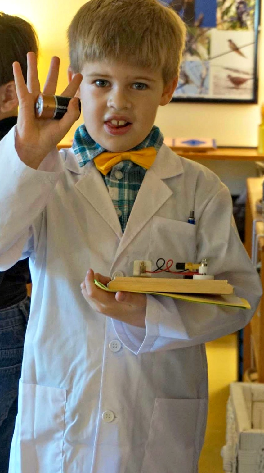 Thomas Edison brought along some of his inventions to share with the students for Historical Halloween.